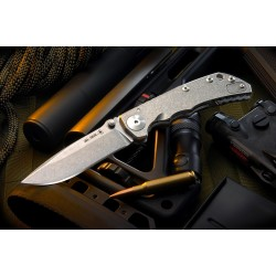 Spartan Blades  Harsey Folder - Stone Washed