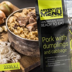 Adventure Menu Pork With Dumplings And Cabbage