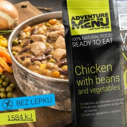 Adventure Menu Chicken With Beans And Vegetables