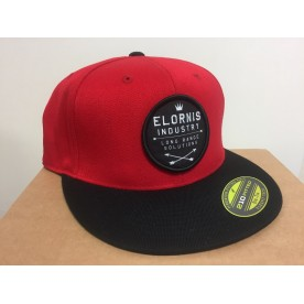 ELORNIS INDUSTRY Snap Back Flexfit 210 RED/ BLACK