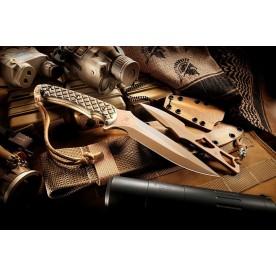 Spartan Blades ARES FDE/Black pouzdro Kydex Tan