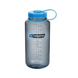 LÁHEV NALGENE WIDE MOUTH 1L GRAY WITH BLUE CAP